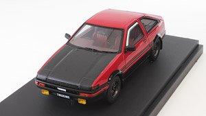 トヨタ スプリンタートレノ (AE86) GT APEX (スポーツホイール) レッド (カーボンボンネット) (ミニカー)