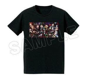 僕のヒーローアカデミア フルカラーTシャツ ブラック M (キャラクターグッズ)