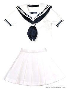 AZO2セーラー夏服セット (ホワイト×ネイビー) (ドール)