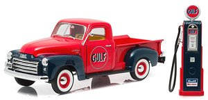 1950 GMC 150 Gulf Oil with Vintage Gulf Gas Pump (ミニカー)