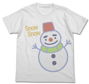 M Chihayafuru Shinobu Snow Round T-Shirt White Size