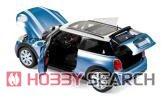 ミニクーパー S 2015 エレクトリック ブルー メタリック & ホワイト (ミニカー)
