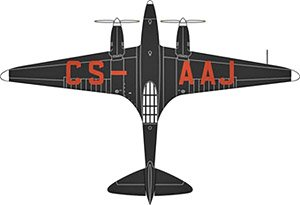 DH88 コメット CS-AAJ Salaza Portugal (完成品)