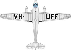 DH ドラゴンラピード VH-UFF Australian National Airways (完成品)
