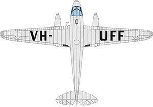 DH ドラゴンラピード VH-UFF Australian National Airways (完成品)