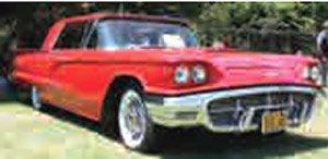 1960 フォード サンダーバード ハードトップ 1960 モンテカルロ レッド (ミニカー)