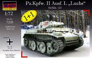 独・Pz.Kpfw.II Ausf.Lルクス偵察戦車2台セット(MC7220-1) (プラモデル)