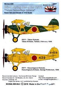 九三式中間練習機(高雄航空隊/ 霞ヶ浦航空隊)、計器飛行訓練キャノピーカバー付き (プラモデル)