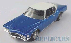 ビューイック リビエラ クーペ 1972 メタリックブルー/ホワイト (ミニカー)