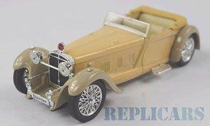 ダイムラー ダブル シックス 50 コンバーチブル 1931 右ハンドル車 ベージュ/ブラウン (ミニカー)