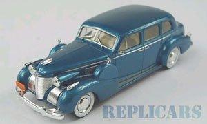 キャディラック シリーズ 75 フリートウッド V8 セダン 1939 メタリック ダーク ターコイズ (ミニカー)