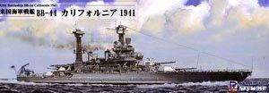 WWII 米海軍 戦艦 BB-44 カリフォルニア 1941 (プラモデル)