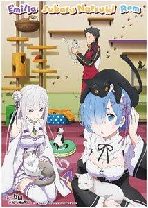 Re:ゼロから始める異世界生活 ミニクリアポスター B 猫喫茶 (キャラクターグッズ)