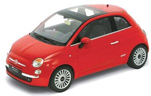 Fiat 500 2007 Red (Diecast Car)