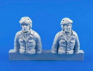 アメリカ シャーマン戦車・操縦手と機銃手・半身像