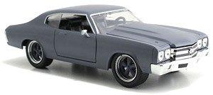 ワイルドスピード 1970 シボレーシェベルSS プライマーグレー (ミニカー)