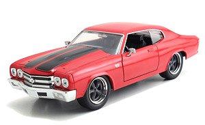 ワイルドスピード 1970 シボレーシェベルSS レッド (ミニカー)
