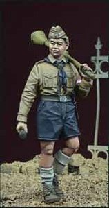 WWII ヒトラーユーゲントの少年 1 ドイツ 1945 (プラモデル)