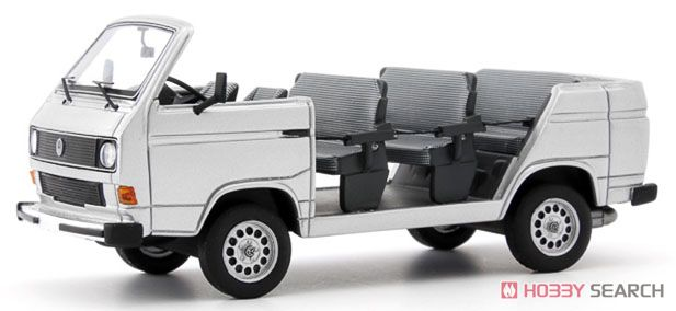 VW T3 Factry tour convertible 1982 シルバー (ミニカー)