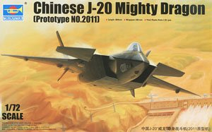 PLAAF J-20 Mighty Dragon `Prototype 2011` (Plastic model)