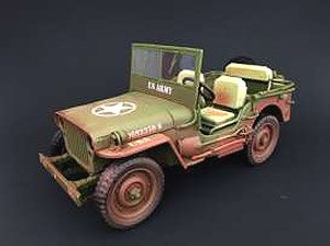 1942 Jeep Willys US ARMY アーミーグリーン ウェザリングバージョン (ミニカー)