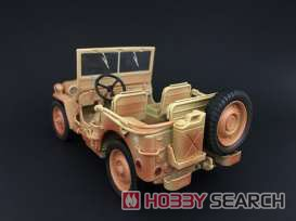 1942 Jeep Willys デザートサンド `映画/カサブランカ Ver` ウェザリングバージョン (ミニカー)