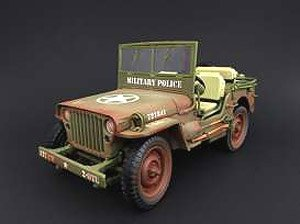 1941 Jeep Willys US ARMY MP ミリタリーポリス アーミーグリーン (ミニカー)