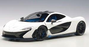 マクラーレン P1 (マット・ホワイト/ブルー) (ミニカー)