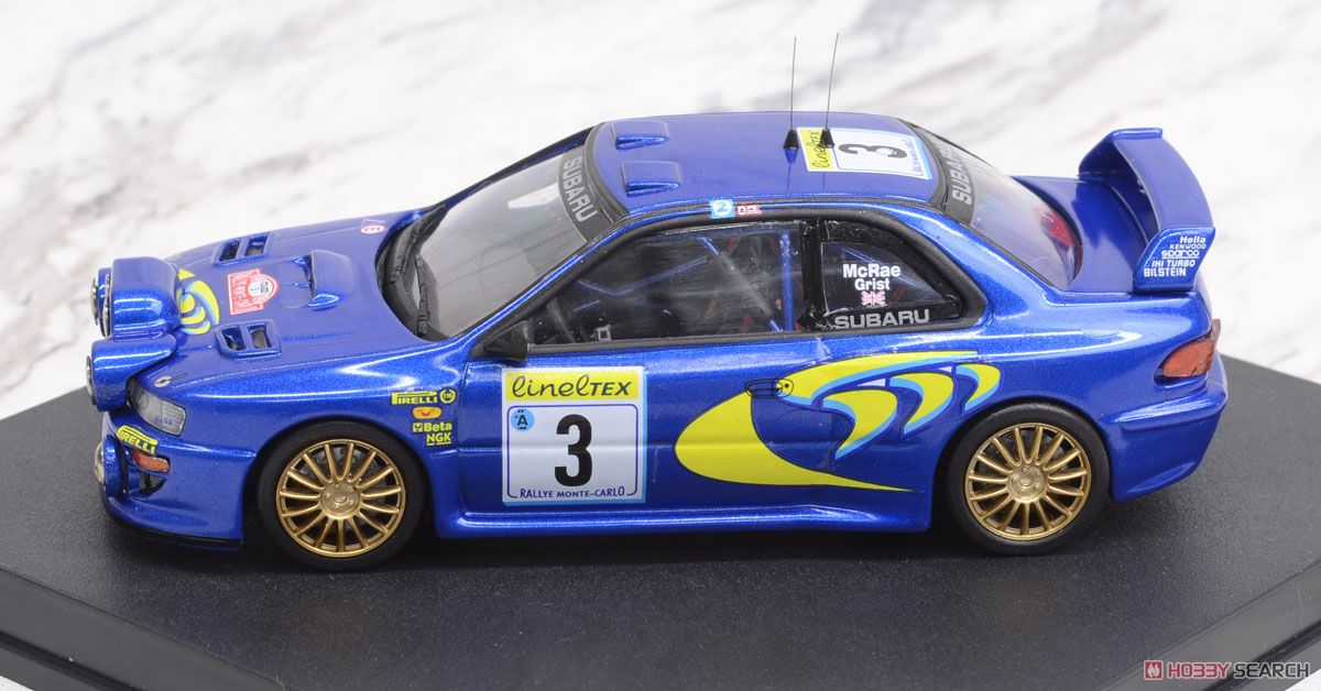 スバル インプレッサ 1998年WRC モンテカルロラリー 3位 #3 C.McRae / N.Grist (ナイトライト付) (ミニカー)