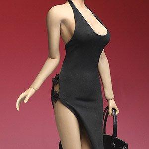 スーパーダック 1/6 女性用 ドレス&ハンドバッグセット ブラック (ドール)