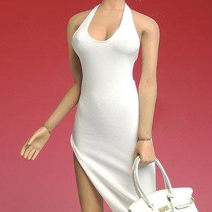スーパーダック 1/6 女性用 ドレス&ハンドバッグセット ホワイト (ドール)
