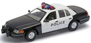フォード クラウン ビクトリア パトカー(ブラック/ホワイト) (ミニカー)