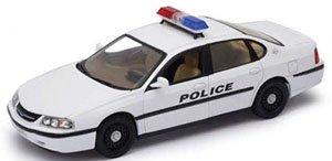 シボレー インパラ 2001 ポリスカー(ホワイト) (ミニカー)