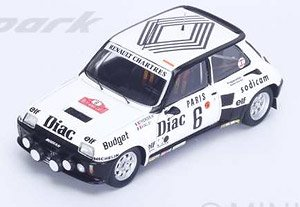 Renault 5 Turbo No.6 4th Monte Carlo Rallye 1984 J.-L.Therier - M.Vial (ミニカー)