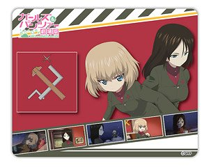 Girls und Panzer der Film Mouse Pad Pravda High School (Anime Toy)
