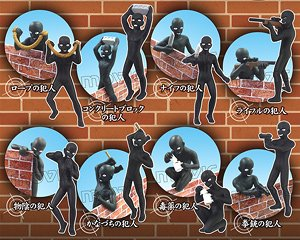 「名探偵コナン」 マスコット 暗躍する犯人達 8個セット (キャラクターグッズ)