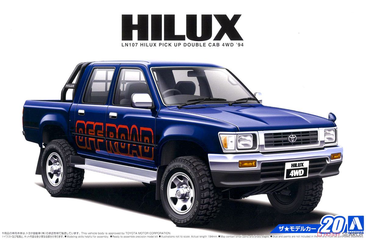 Toyota Ln107 Hilux Pick Up Double Cab 4wd 94 Model Car