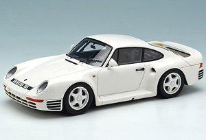 Porsche 959 S 1987 ホワイト/グレーストライプ (ミニカー)
