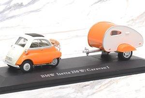 BMW イセッタ キャンピングカー付 オレンジ (ミニカー)