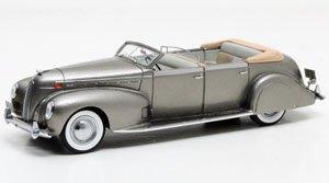 リンカーン モデルK ル・バロン コンバーチブルセダン 1938 メタリックグレー (ミニカー)