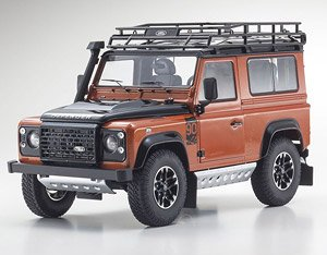 Land Rover Defender 90 Adventure (Phoenix Orange) (Diecast Car)