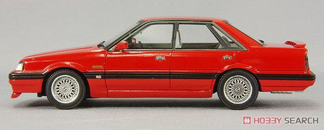 日産 スカイライン 4ドアハードトップ GTパサージュ ツインカム24Vターボ 1987年 BBSホイール仕様 スーパーレッド (ミニカー)