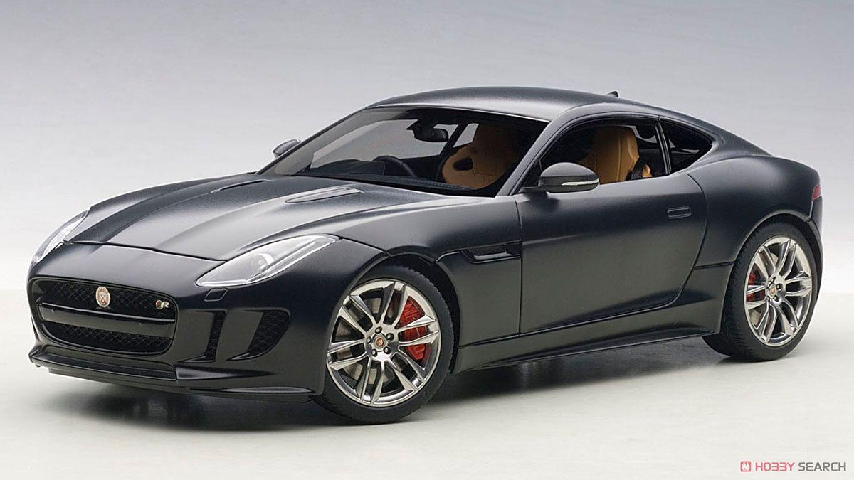 ジャガー Fタイプ R クーペ 2015 (マット・ブラック) (ミニカー)