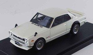 ニッサン スカイライン GT-R (KPGC10) メッシュホイール(カスタムバージョン) ホワイト (ミニカー)