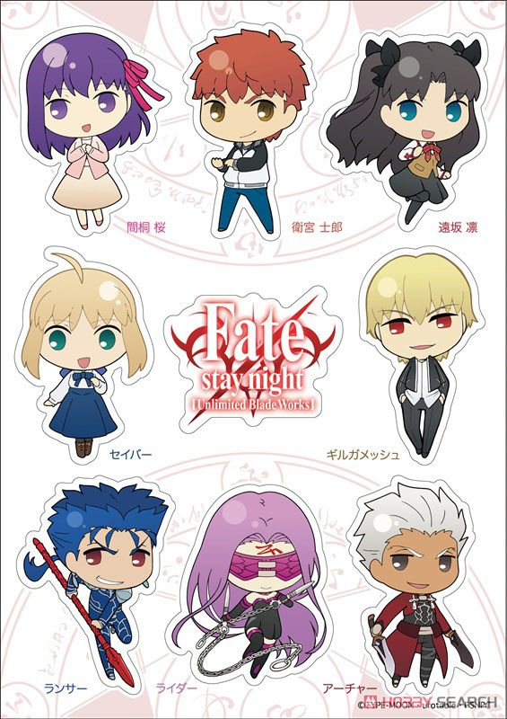 Fate/stay night [Unlimited Blade Works] A5耐候ステッカー SDメインキャラ (キャラクターグッズ)