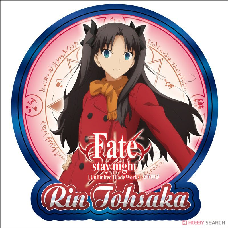 Fate/stay night [Unlimited Blade Works] ワンポイント耐候ステッカー 遠坂凛 (キャラクターグッズ)