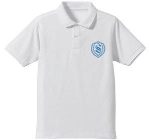 ファンタシースターオンライン2 ジ アニメーション 清雅学園 ポロシャツ WHITE L (キャラクターグッズ)