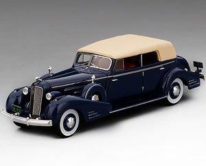 キャデラック V16 コンバーチブル セダン フリートウッド 1934 ダークブルー (ミニカー)