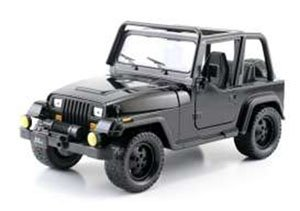 BTM 1992 JEEP WRANGLER BLACK (ミニカー)