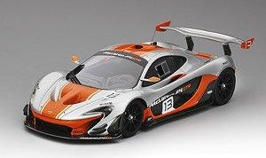 マクラーレン P1-GTR #13 2015 シルバー/オレンジ (ミニカー)